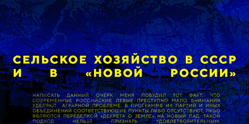 Сельское хозяйство в СССР и в «Новой России»